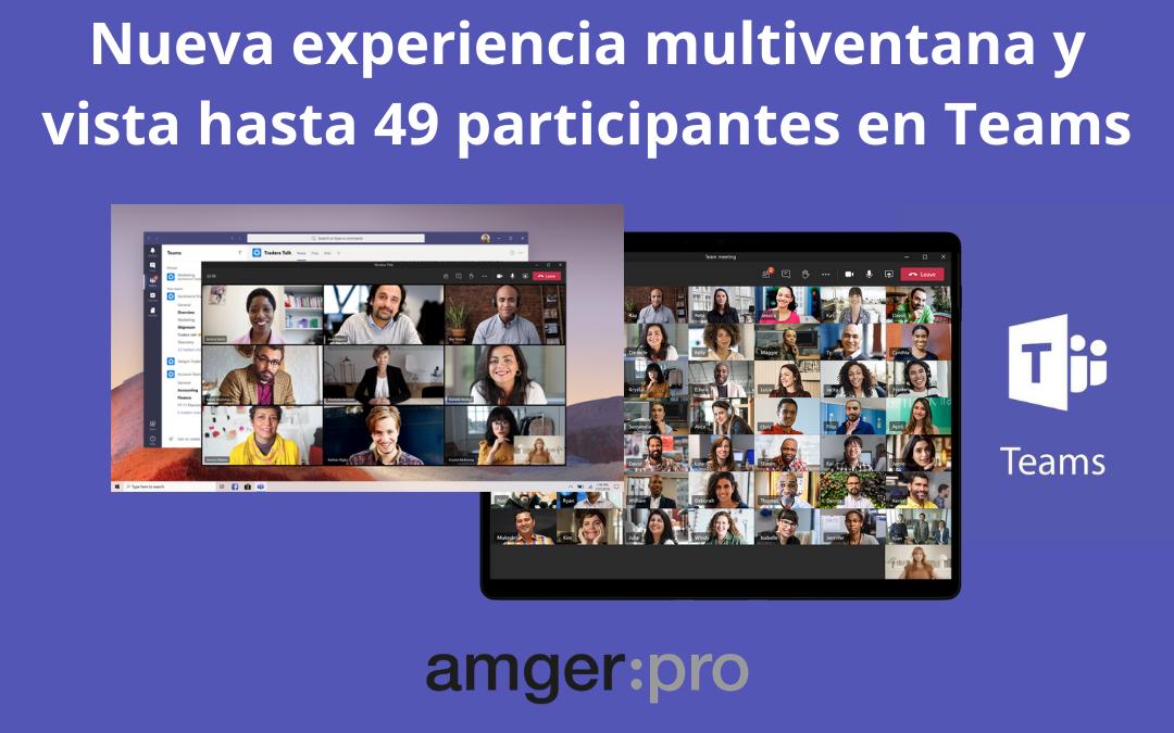 Microsoft Teams amplía la vista de «Galería» hasta 49 participantes