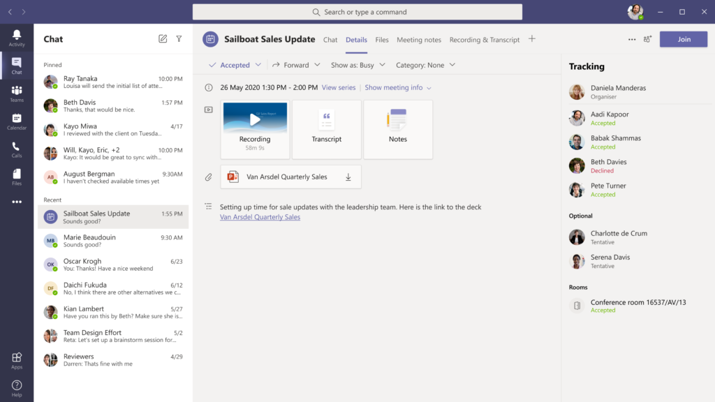 amgerpro_microsoft teams_recap meetings_2021