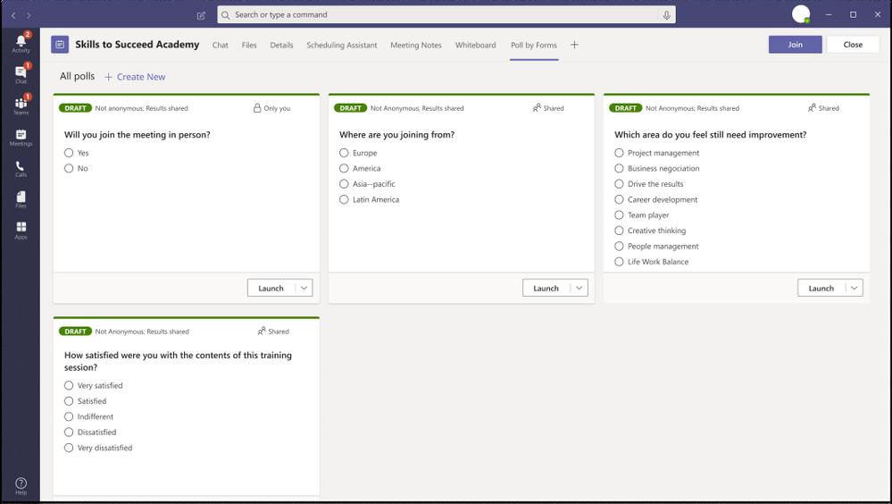amgerpro_crear Sondeo para reunión en Teams